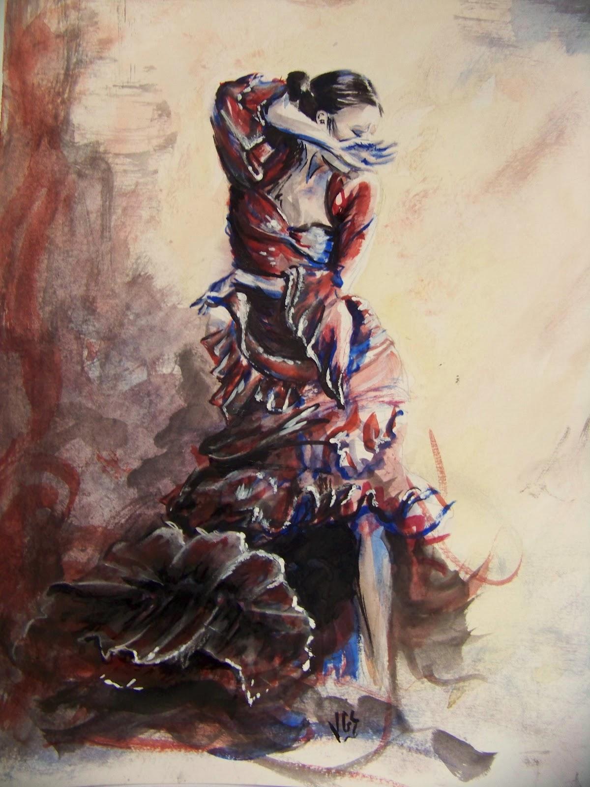 L 39 art autour du cheval - Dessin danseuse de flamenco ...