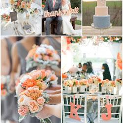 Magenta, Orange and Grey Bold Wedding Colour Scheme | A Hue For Two