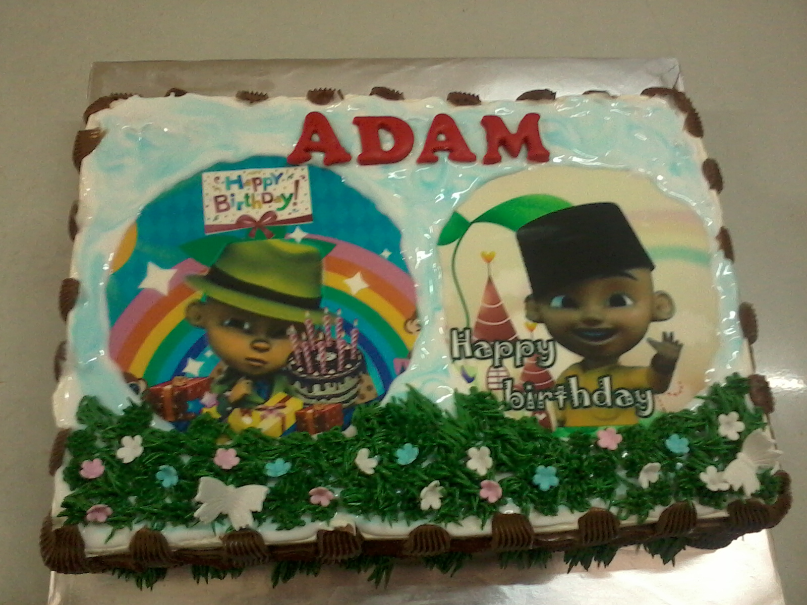 This cake was ordered by Ms. Azaria Bulin for her sons birthday.