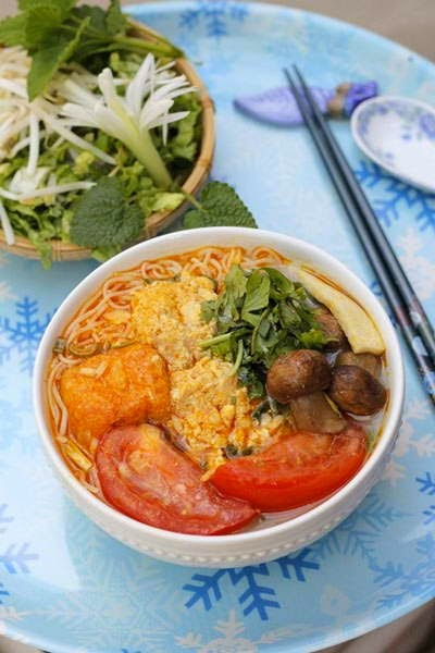 Vietnamese Recipes Vegetarian - Bún Riêu Chay