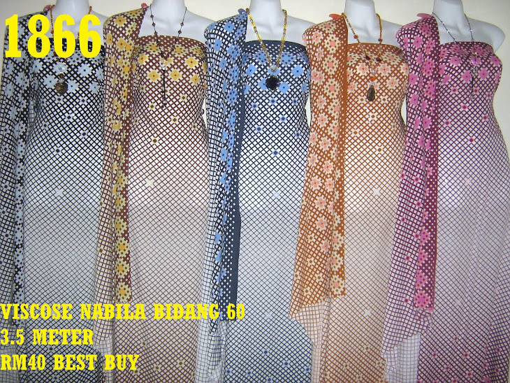 VN 1866: VISCOSE NABILA BIDANG 60 INCI, 3.5 METER, 5 COLORS