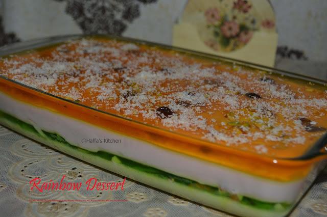 Desserts| Eid desserts| Rainbow dessert,