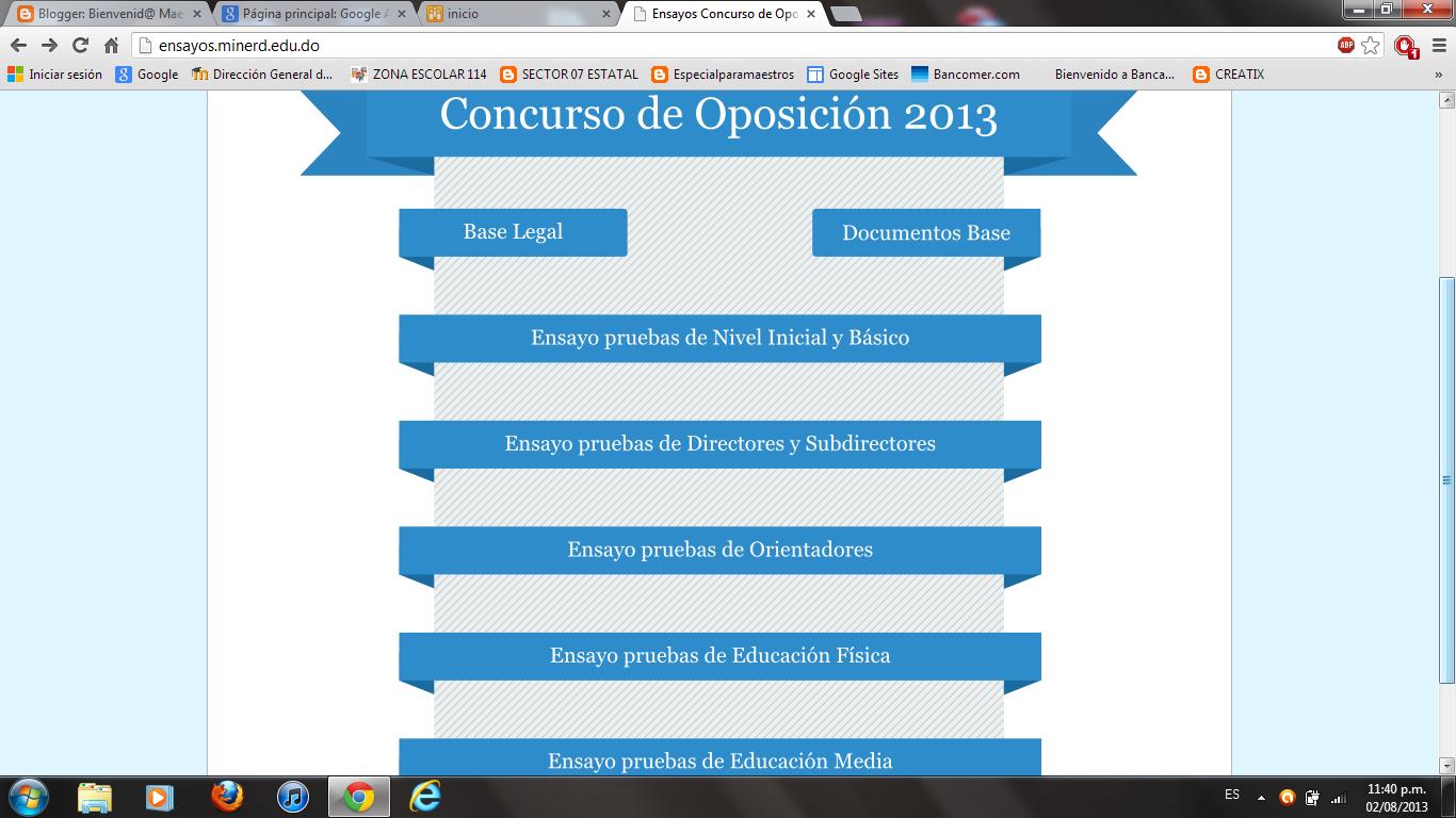 ENSAYOS CONCURSO DE OPOSICIÓN REPÚBLICA DOMINICANA