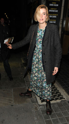 Agyness Deyn Print Dress