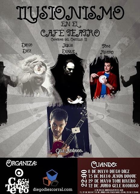 Mago Toni Rivero en el Café Teatro, en Valladolid