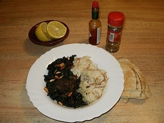 Lebanese Recipes: Jew's Mallow - Lebanese Molokhia and Rice