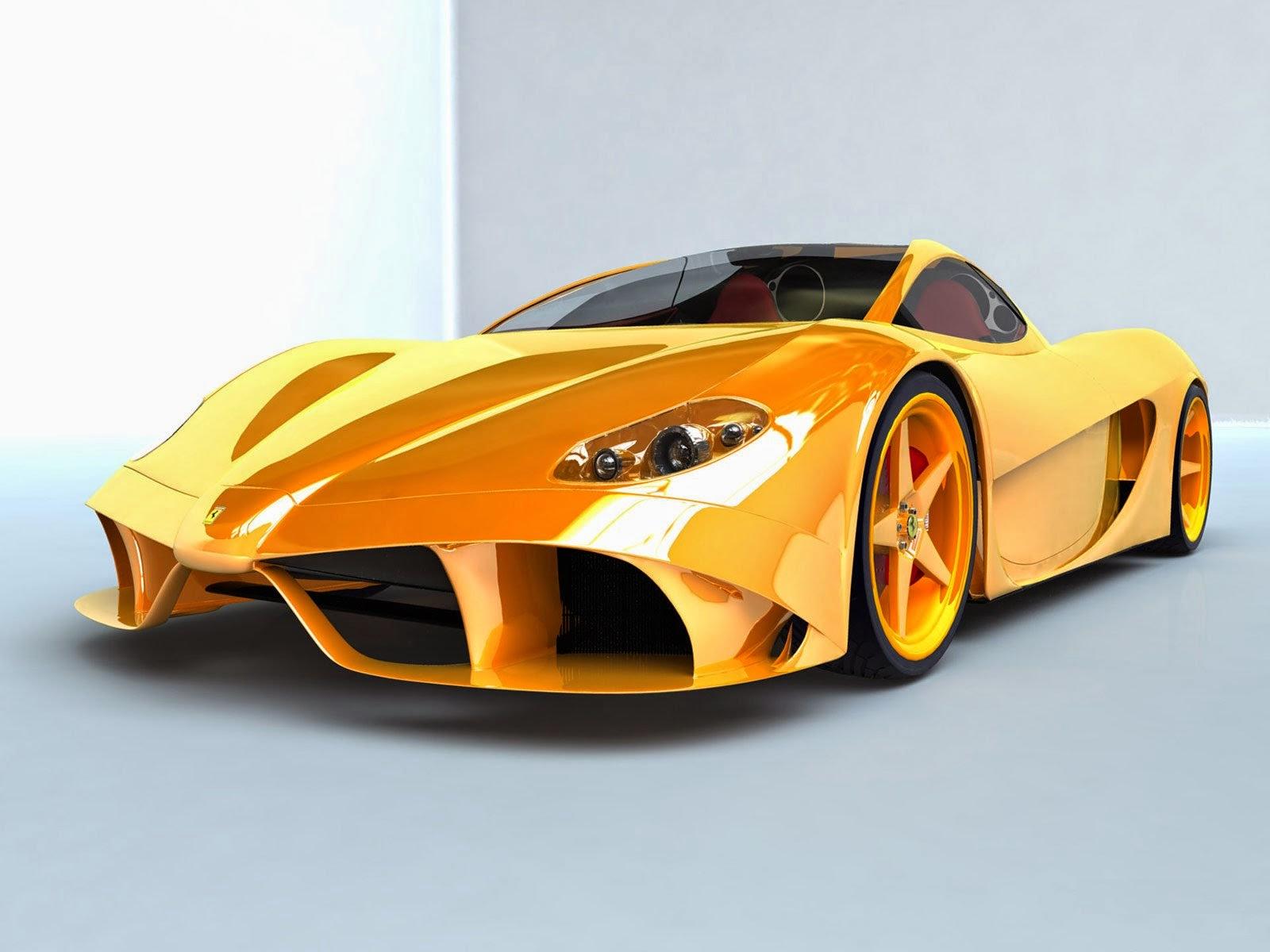 Ferrari Yellow Color Car Wallpapers