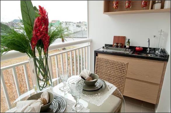 Sua Casa , Seu Espelho Dicas para decorar varandas -> Decoração De Sacada Gourmet Pequena