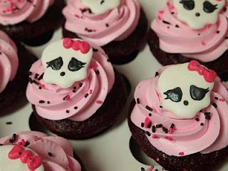 Cupcakes o Magdalenas de Monster High
