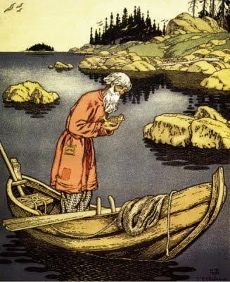 El pescador i el peix (Ivan Yákovlevich Bilibin)