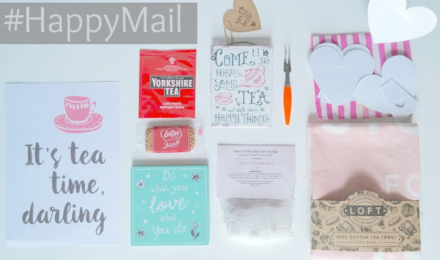 August themed Happy Mail box contents