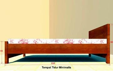 Gambar Desain Kamar Kost Mahasiswa - Tempat Tidur Minimalis