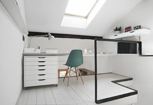 Skandinavisches Design für Einrichten und Wohnen auf kleinstem Raum: Büro