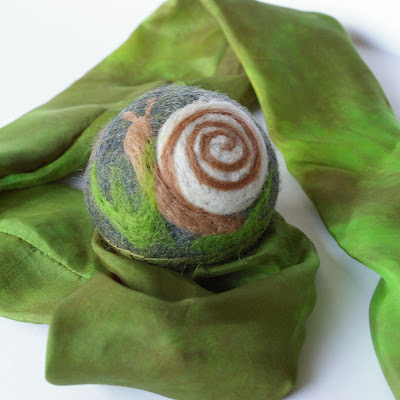 toy, natural, wool, felted, waldorf, steiner, silk, playsilk, ball, handmade