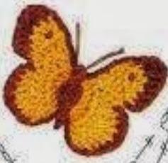 PATRON GRATIS APLIQUE MARIPOSA DE CROCHET 2734