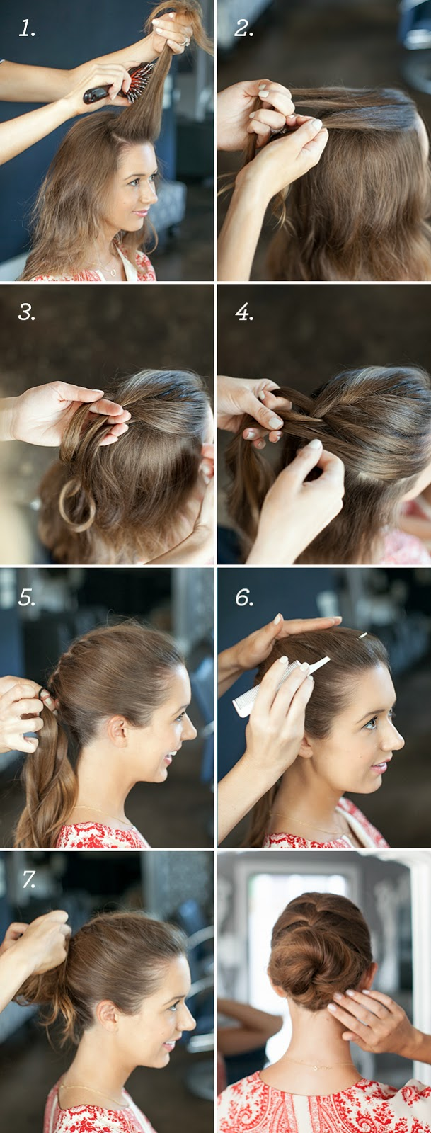 French Braid Bun Hairstyle  Tutorial