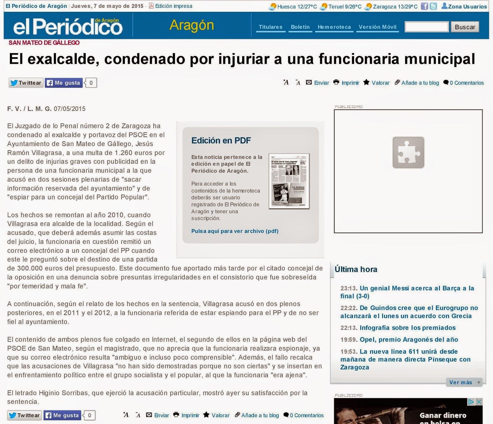 El blog de san mateo de g llego el exalcalde condenado - El tiempo en san mateo de gallego ...