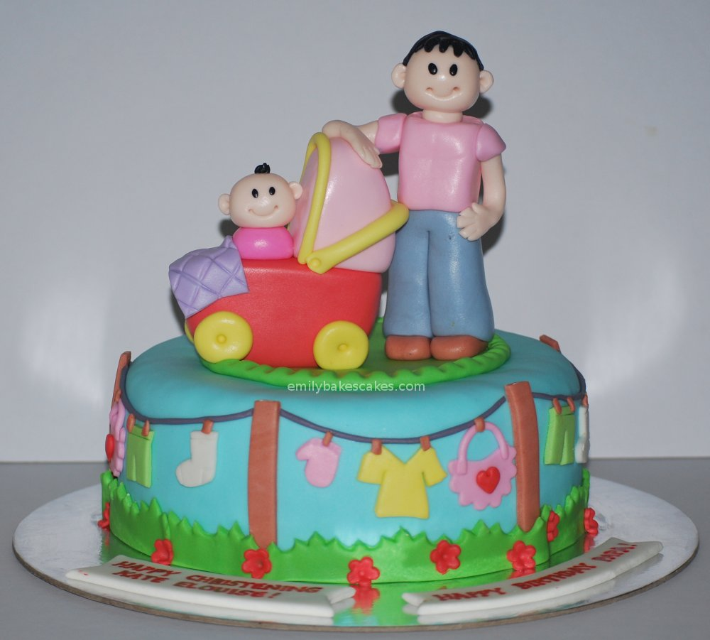 emily bakes cakes: Father-Daughter Birthday / Baptismal Cake