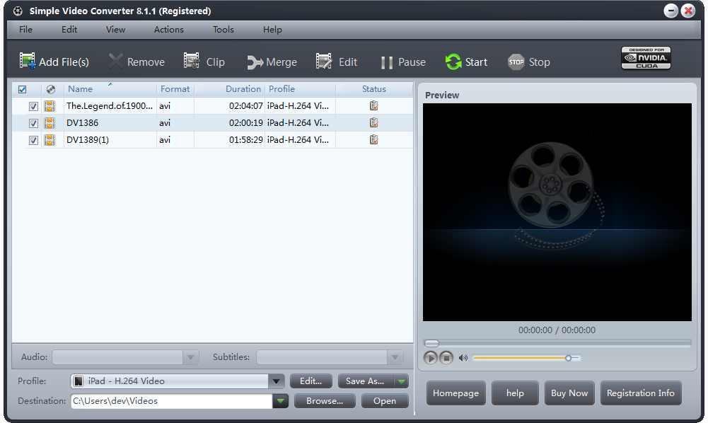 برنامج Simple Video Converter لتحويل ملفات الفيديو