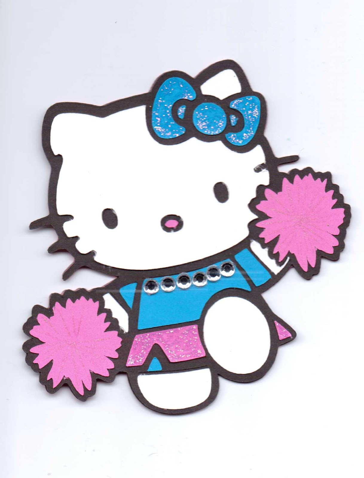 PAPER CRAFTS WITH THE PINK ARMADILLO: Cheerleader Hello Kitty Shape ...