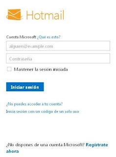 Hotmail Iniciar secion