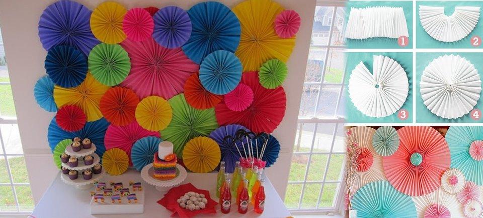 Criatividadee com giu decora o de festa for Decoracion con papel barrilete