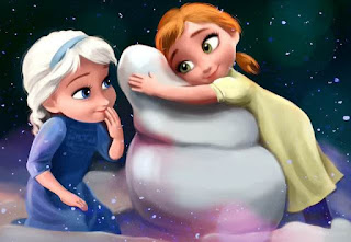 Gambar Elsa dan Anna Frozen wallpaper 9