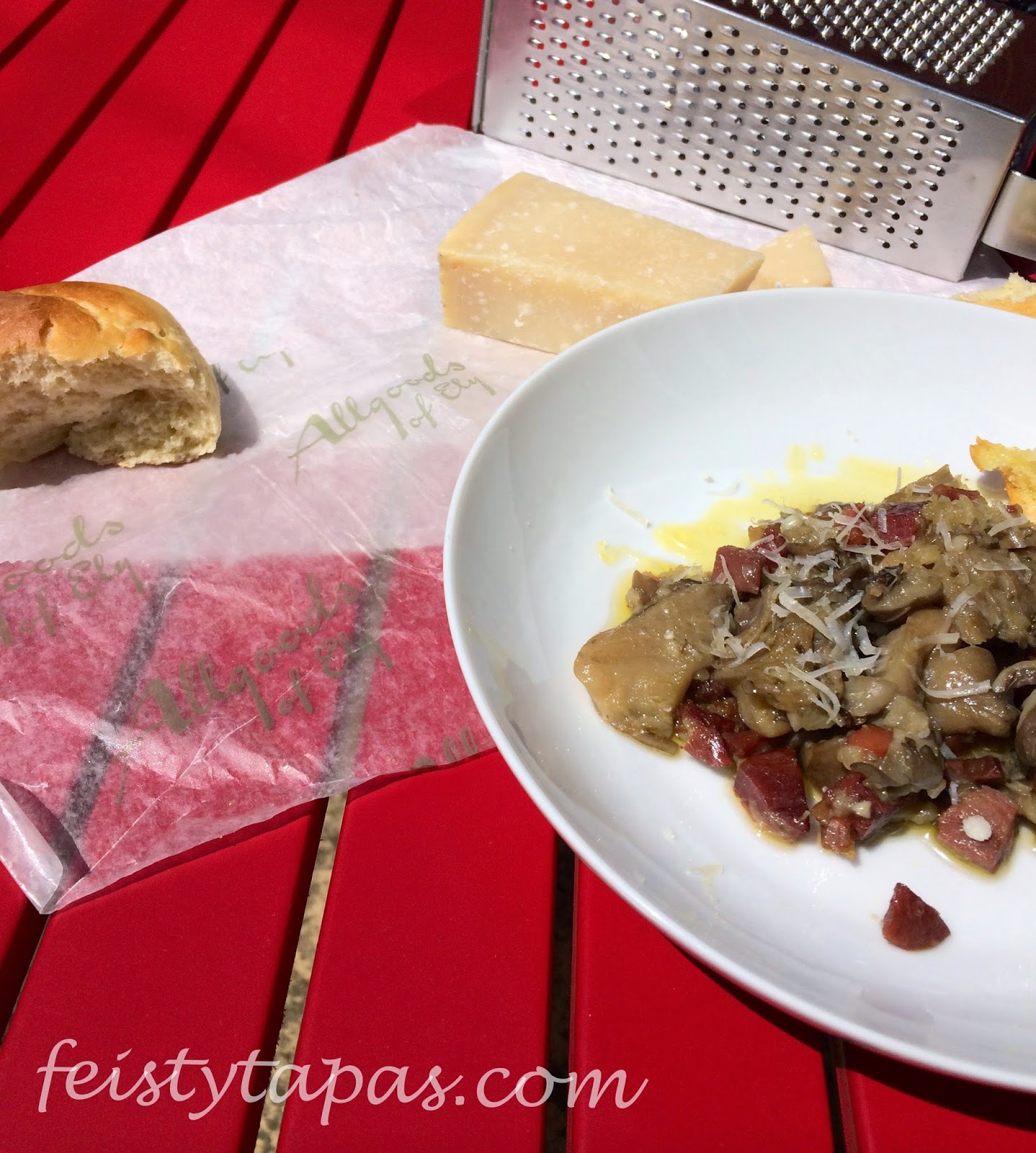 Garlic and serrano ham mushrooms (Thermomix and conventional recipe)
