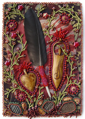 bead embroidery by Robin Atkins, Respect
