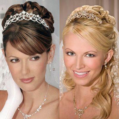 Peinados con flequillo para tu boda