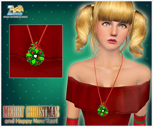 My Sims 3 Blog: Two Christmas Necklaces By Peggy