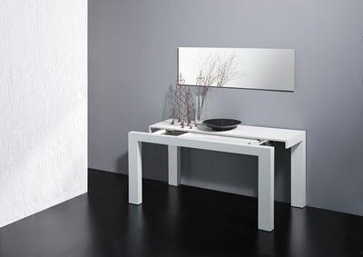 Muebles multifuncionales para espacios reducidos muebles convertibles - Mesa de comedor plegable extensible ...