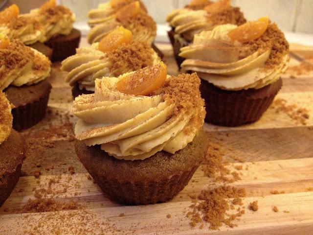 Dýňové cupcakes s kávou a kořením