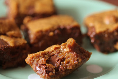 Browned butter and caramelised white chocolate blondies