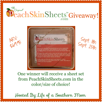 PeachSkinSheets Comfort Bed Sheet Giveaway