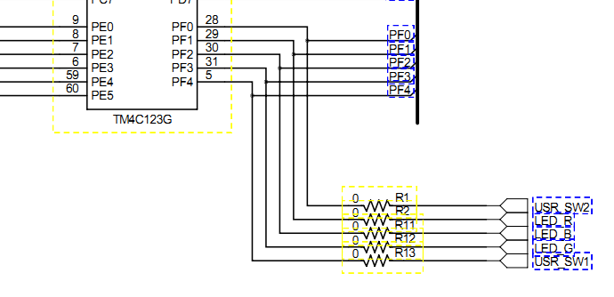tmcghpm user switch implementation using c code arm, schematic