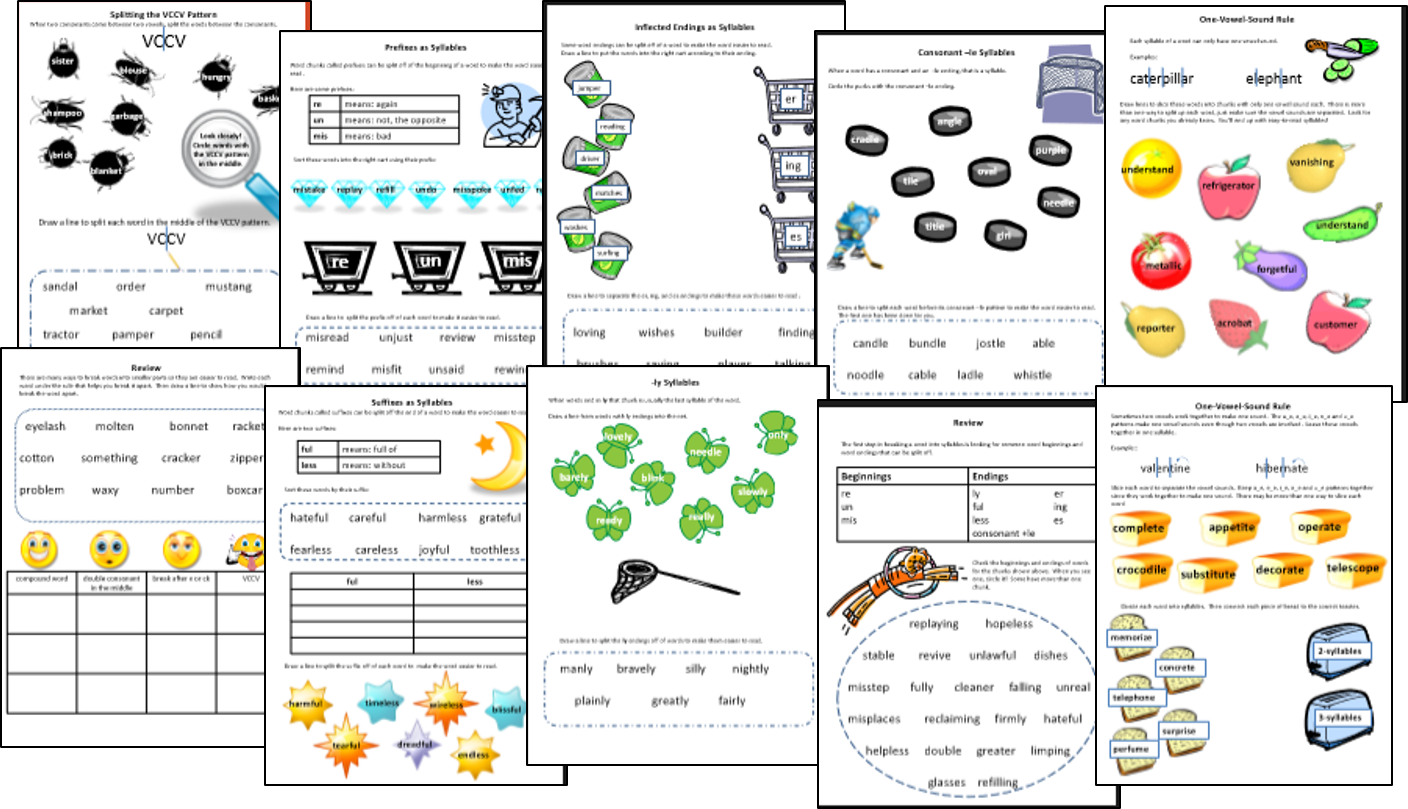 words their way spelling lists chunking words worksheet chunking words ...