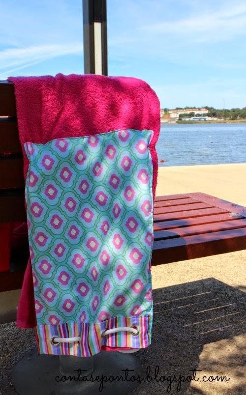Toalha de praia - mochila de praia