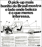Pick-Up Ford F-100, Ford; brazilian advertising cars in the 70s; os anos 70; história da década de 70; Brazil in the 70s; propaganda carros anos 70; Oswaldo Hernandez;.