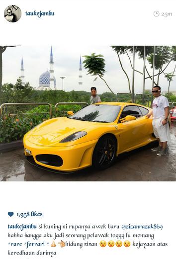 Gambar Ferrari Kuning Zizan Razak