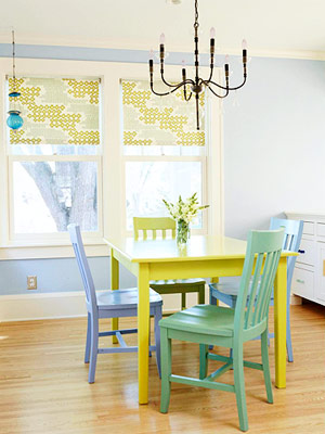 painted chairs the inexpensive solution to my dining room dilemma