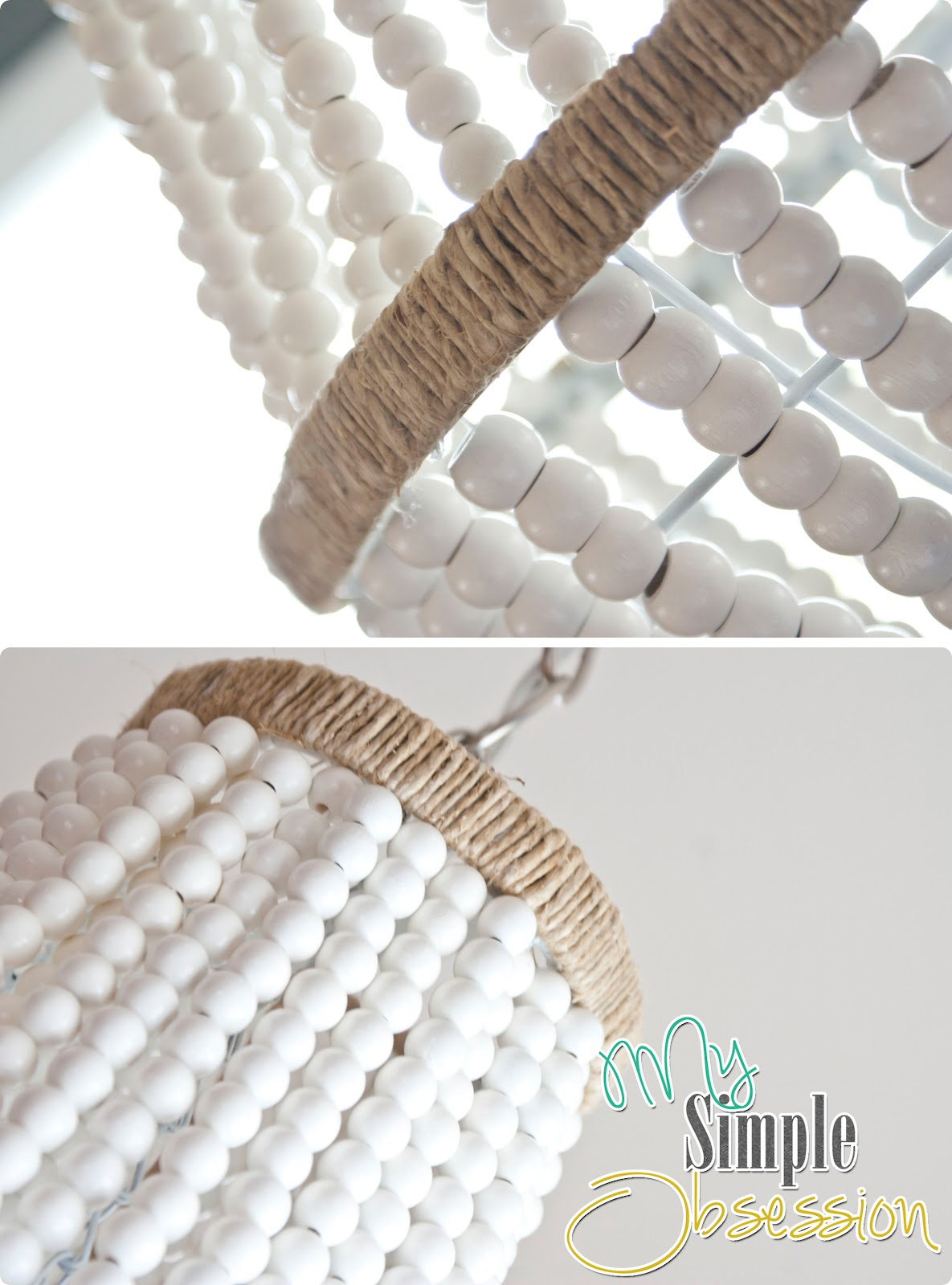My Simple Obsession Beaded Chandelier Tutorial