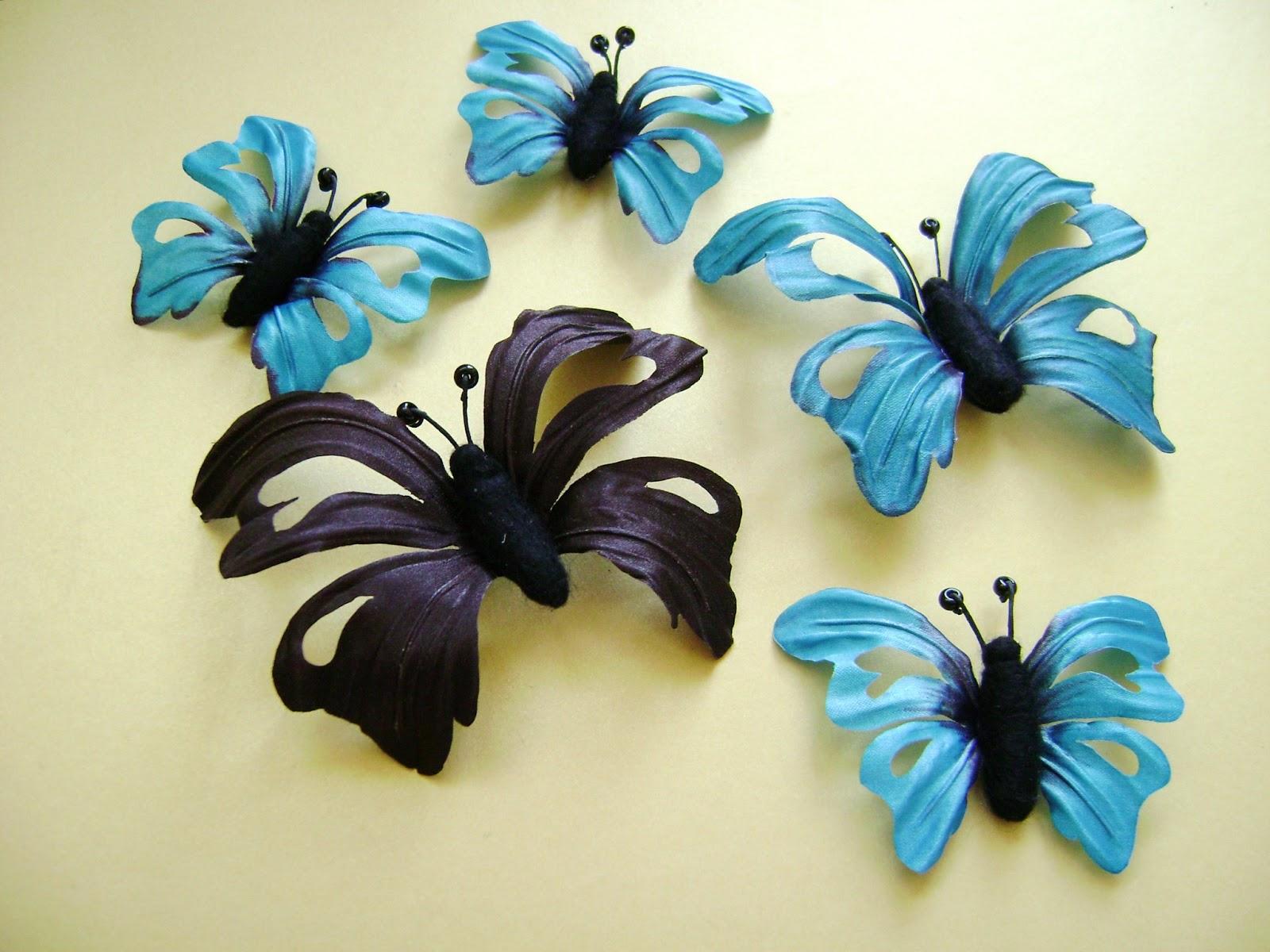 Заколки бабочки своими руками