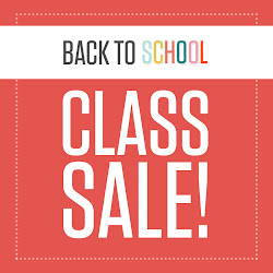 Back to School Class Sale until 8/25
