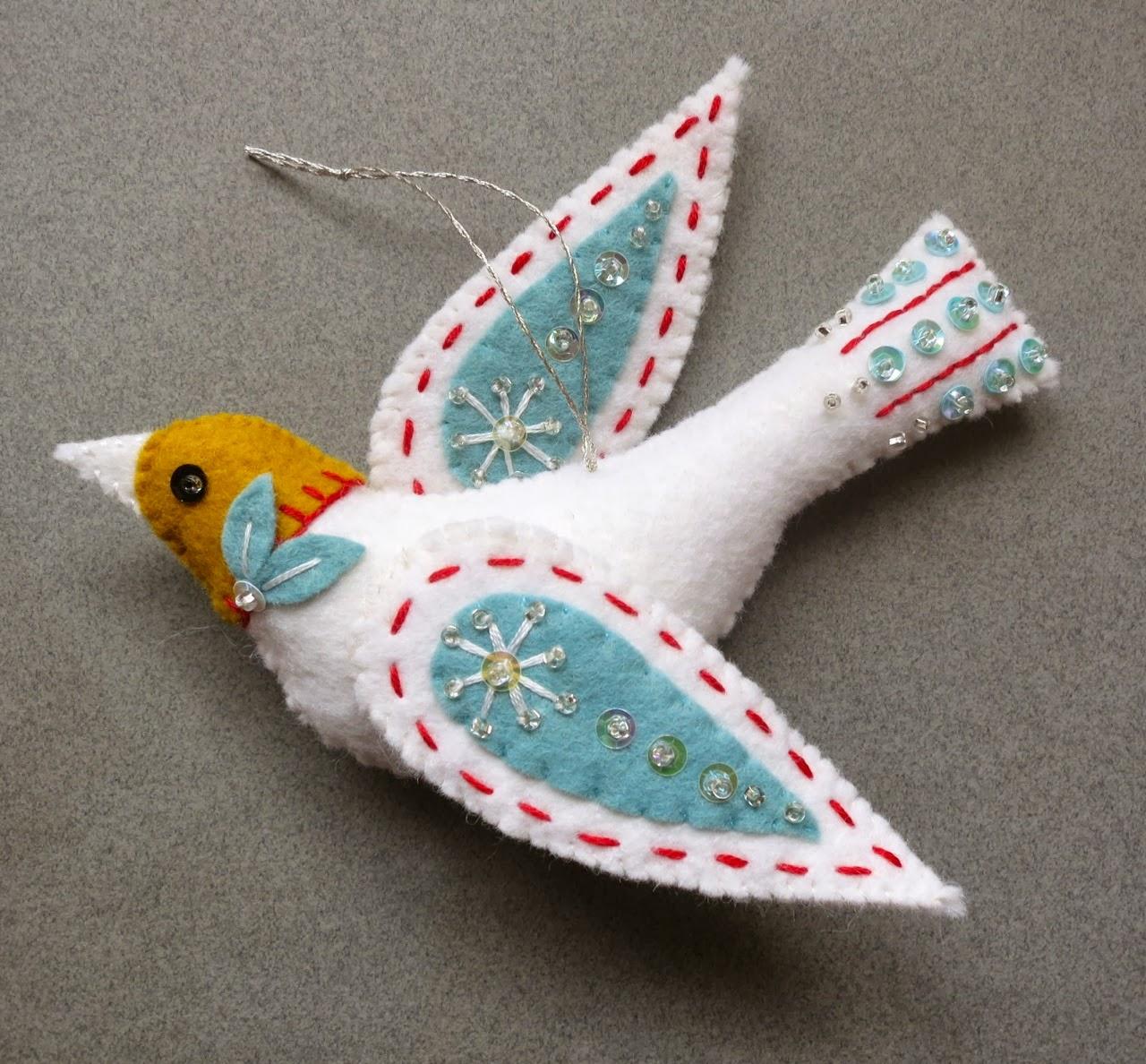 Птица из ткани Коробочка идей и мастер-классов 24