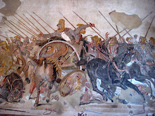 Half of the Alexander the Great Mosaic from a huge mansion in Pompeii.