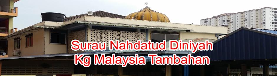 Surau Nahdatud Diniyah, Kg Malaysia Tambahan