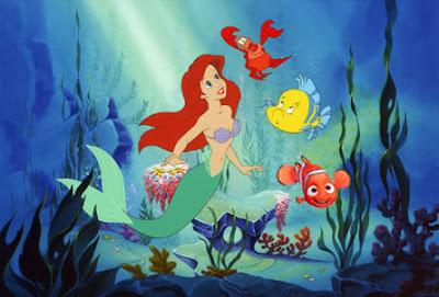 Disney fishs from ariel mermaid