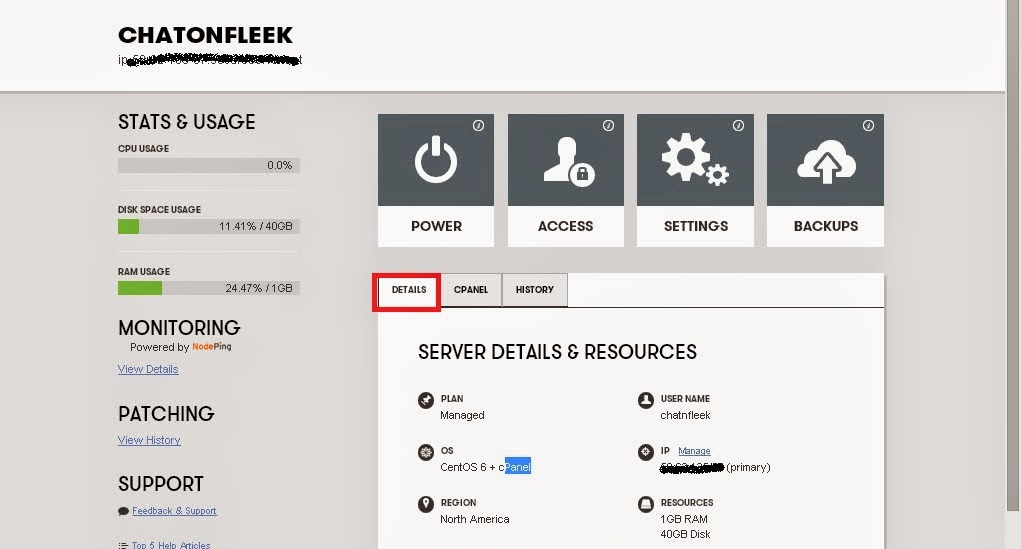 how to find name server in cpanel