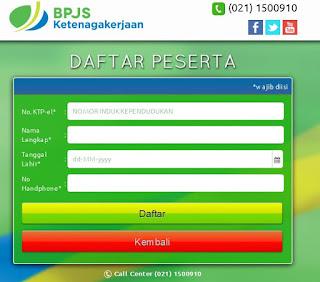 bpjs ketenagakerjaan daftar online perorangan